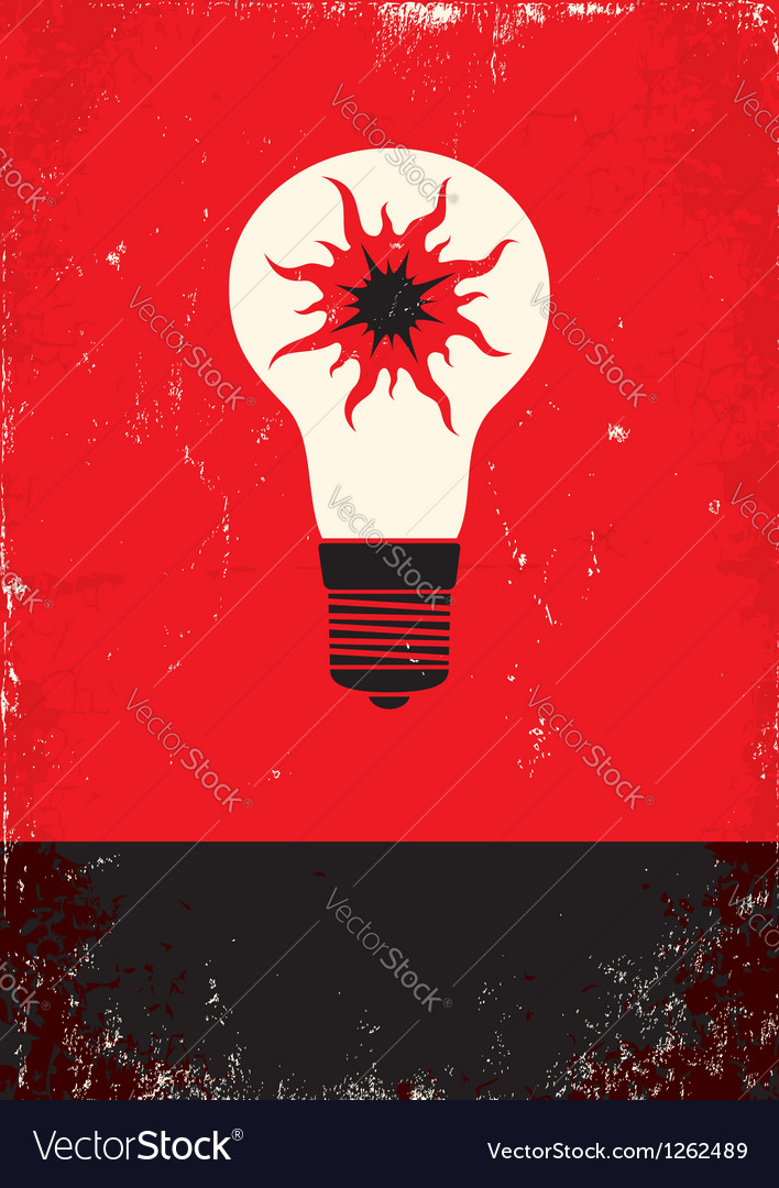 Red and black poster with bulb vector | Price: 1 Credit (USD $1)