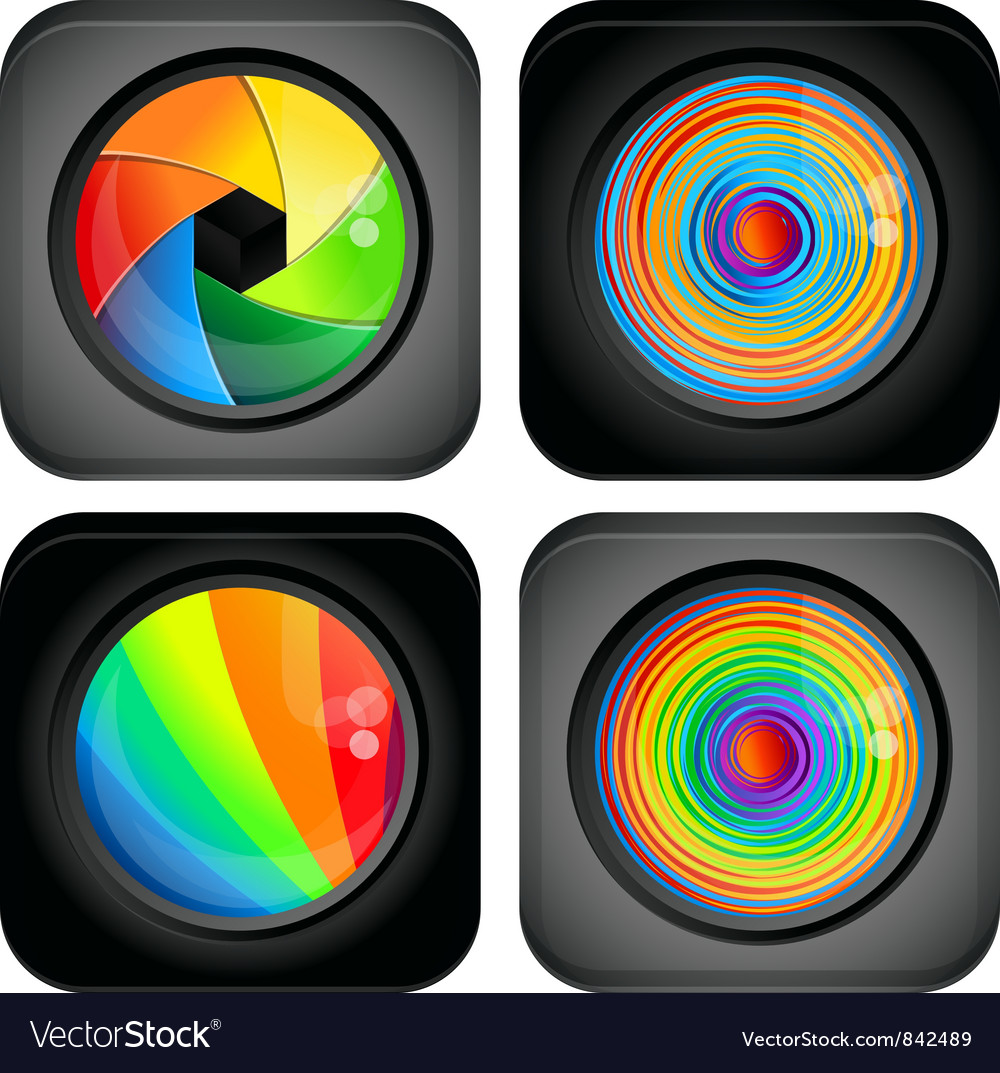 Square abstract logo with rainbow design elements vector | Price: 1 Credit (USD $1)