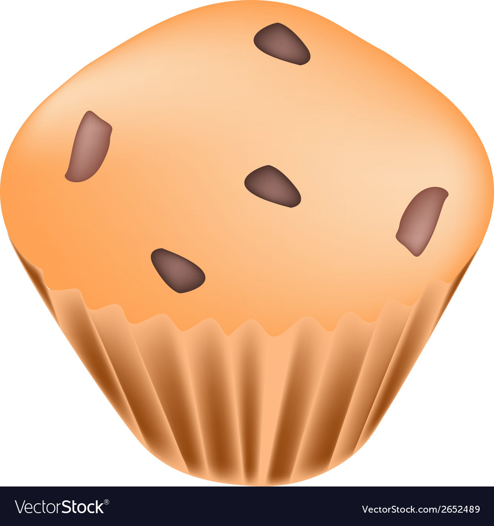 Thai muffins with raisins on white background vector | Price: 1 Credit (USD $1)