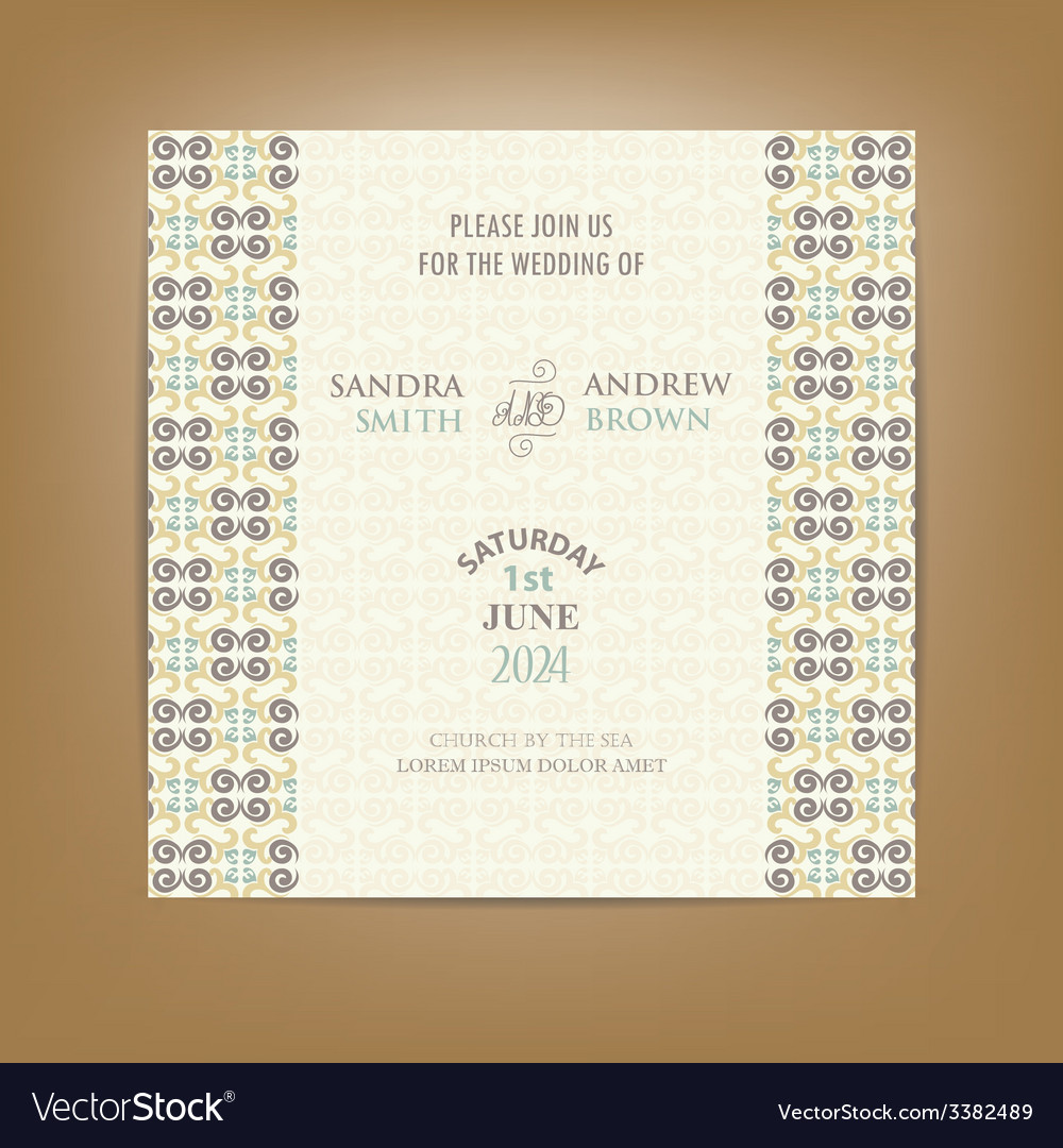 Wedding invitation card color vector | Price: 1 Credit (USD $1)