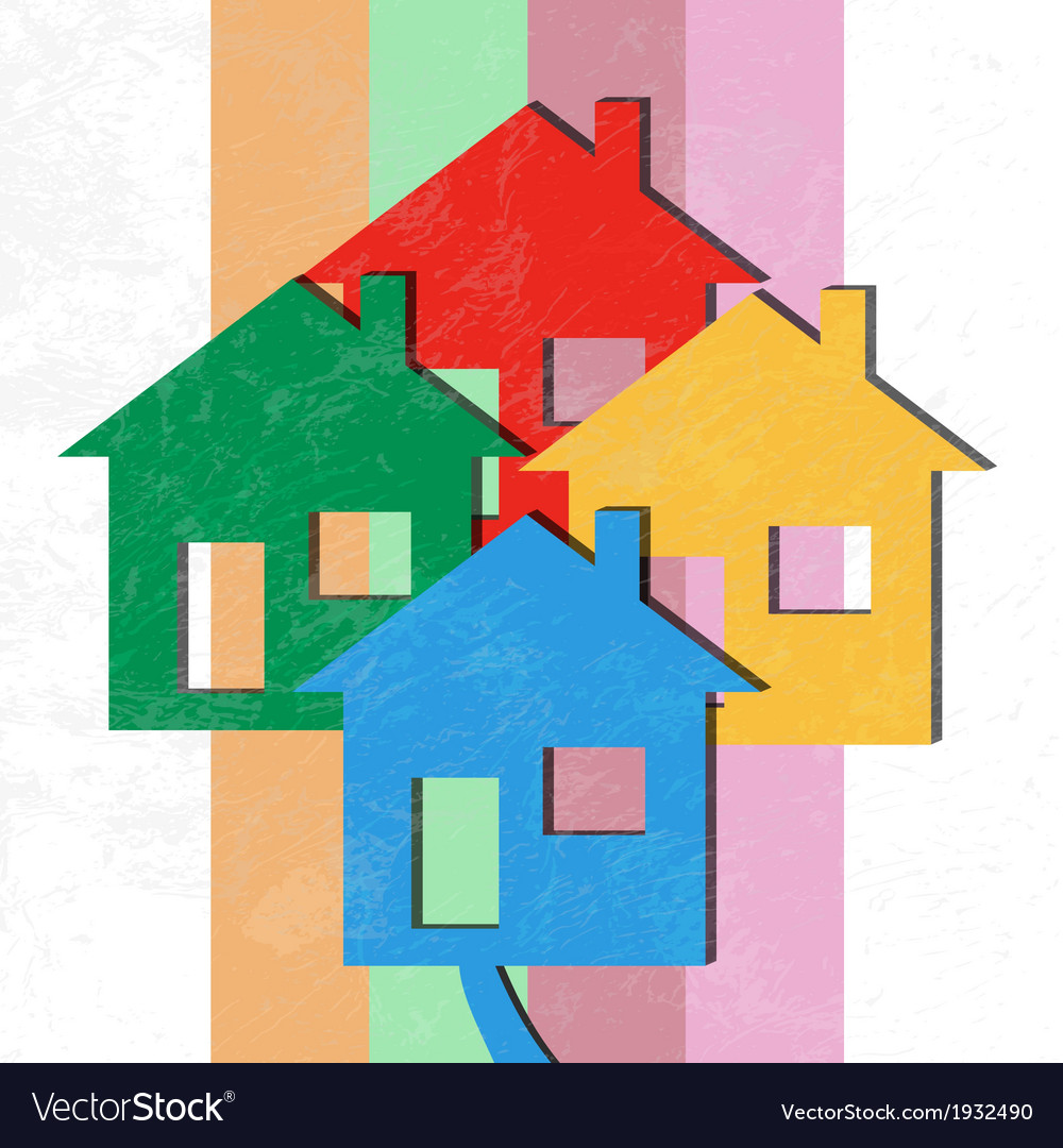3d houses vector | Price: 1 Credit (USD $1)