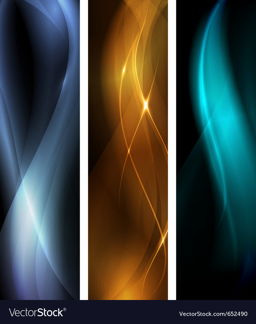 Abstract dark wave banner set vector | Price: 1 Credit (USD $1)