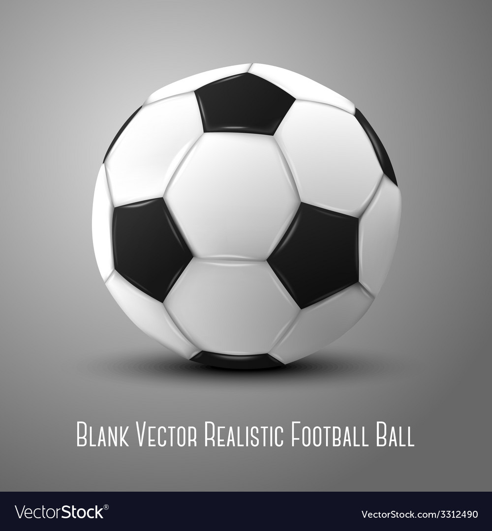 Blank photo realistic isolated on grey football vector | Price: 1 Credit (USD $1)