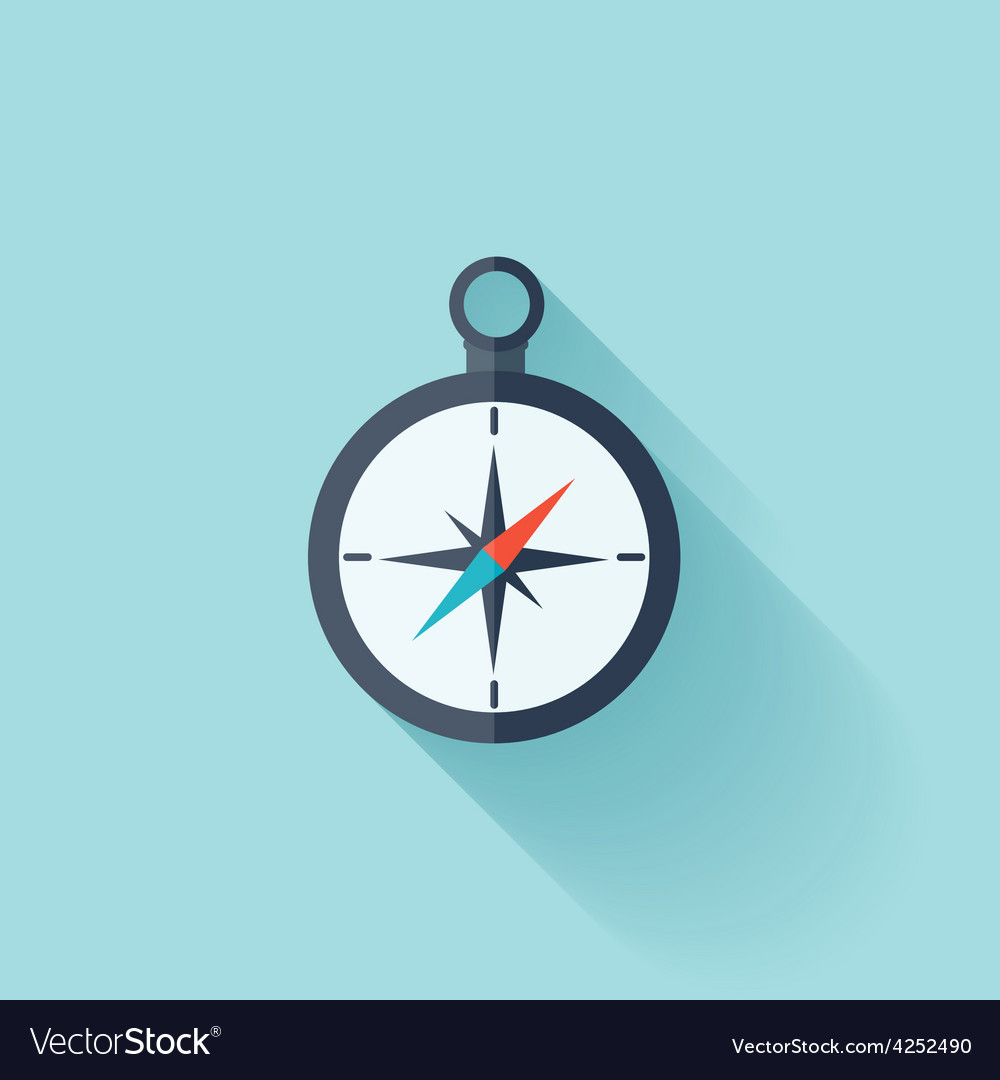 Compass flat icon vector | Price: 1 Credit (USD $1)