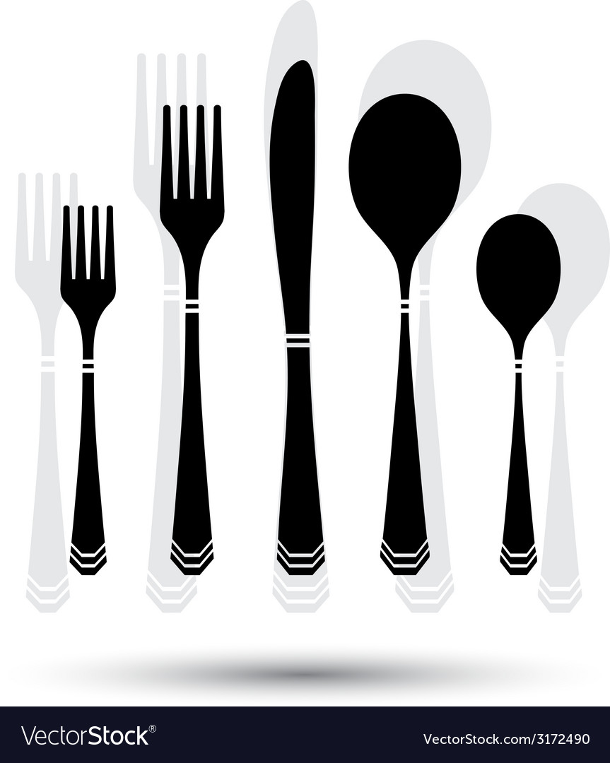 Cutlery black vector | Price: 1 Credit (USD $1)