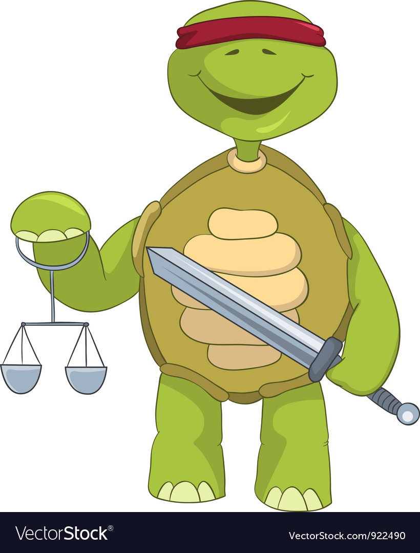 Funny turtle law vector | Price: 1 Credit (USD $1)