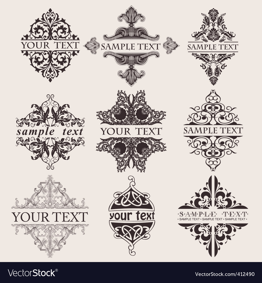Ornate banners vector | Price: 1 Credit (USD $1)
