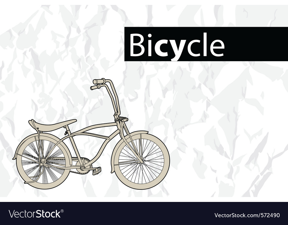 Outline bicycle vector | Price: 1 Credit (USD $1)