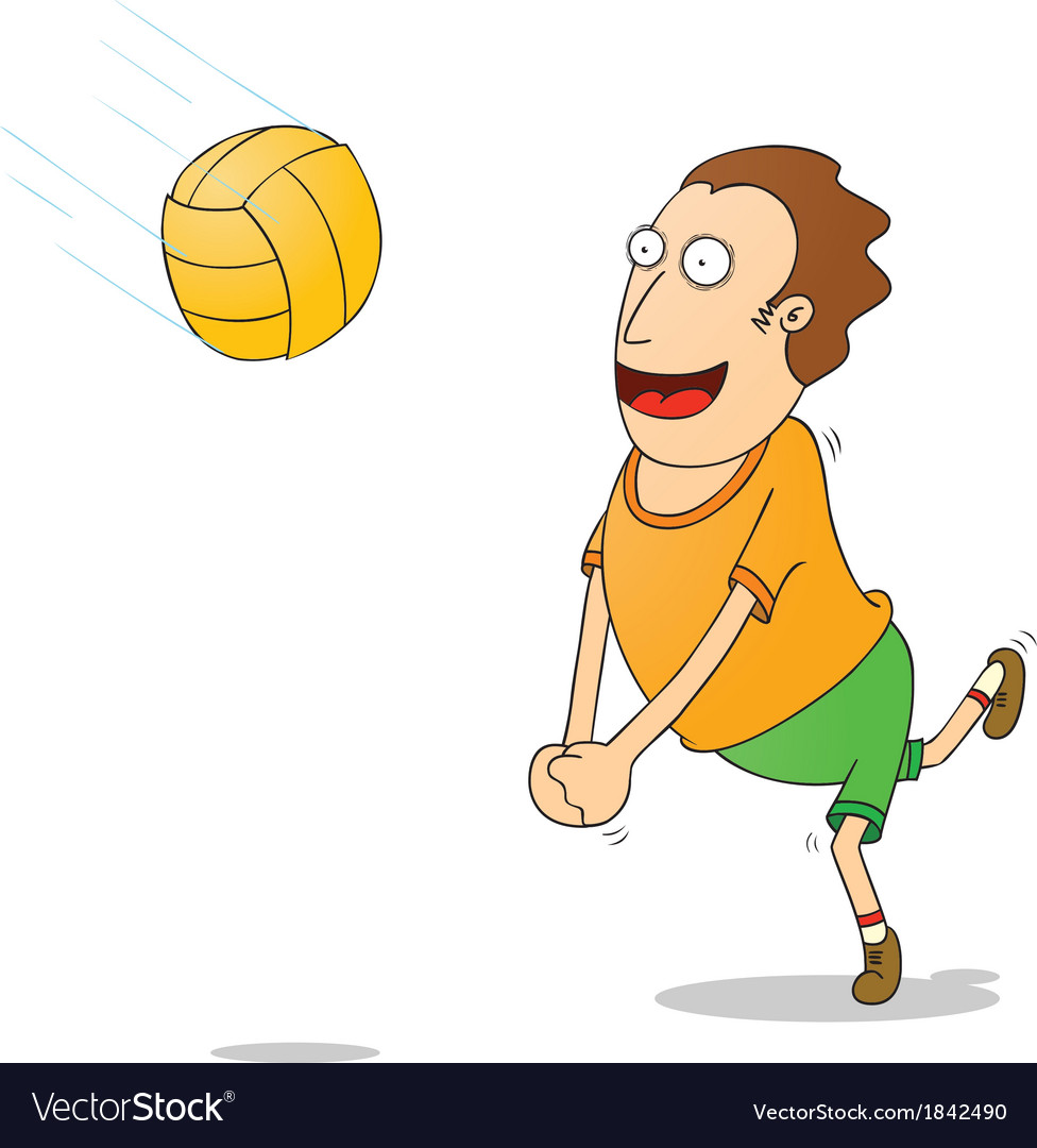 Playing volleyball vector | Price: 1 Credit (USD $1)