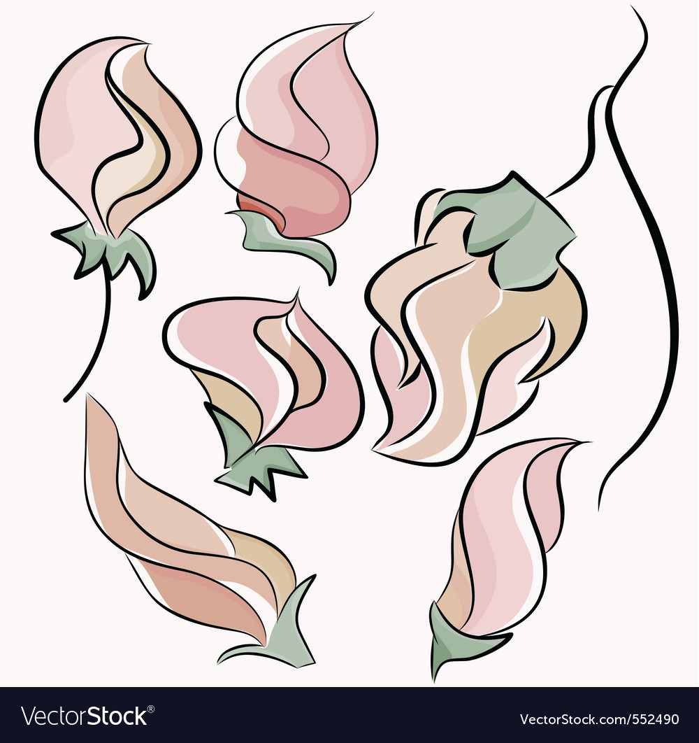 Rose bud vector | Price: 1 Credit (USD $1)