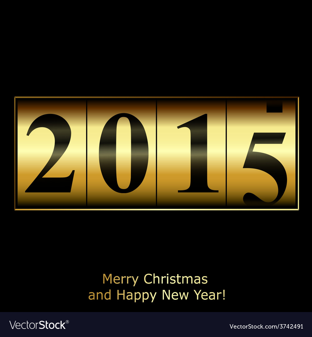 Abstract golden new year counter vector | Price: 1 Credit (USD $1)