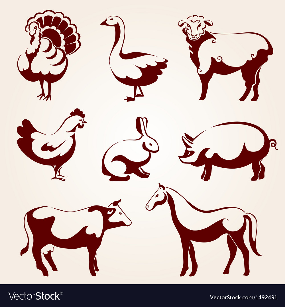 Farm animals vector | Price: 3 Credit (USD $3)