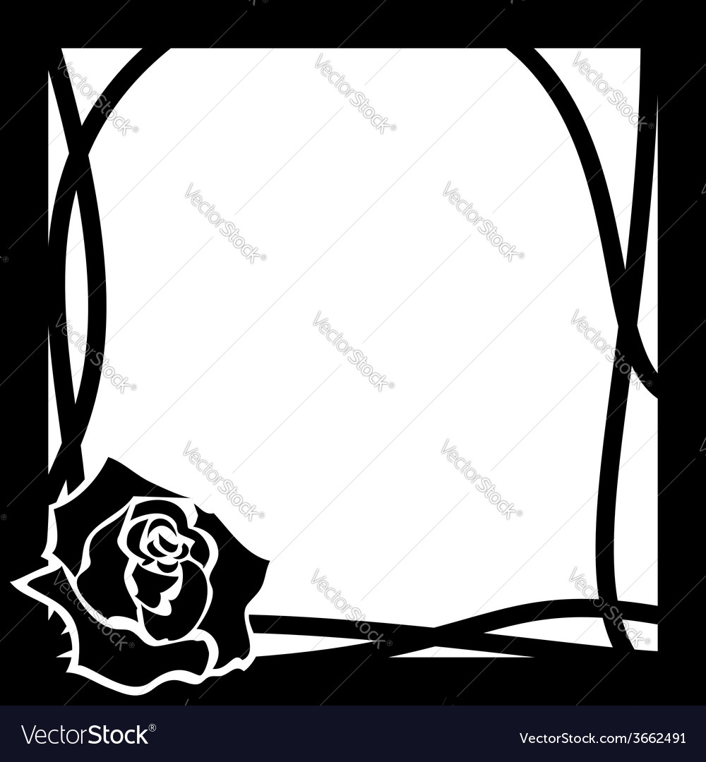 Frame whith rose vector | Price: 1 Credit (USD $1)