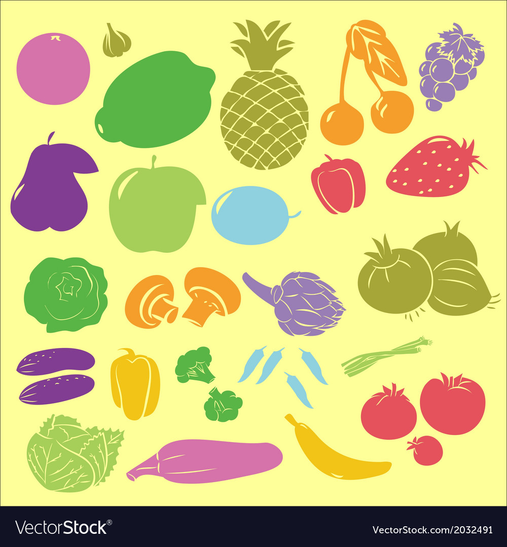 Fruits digital clipart vector | Price: 1 Credit (USD $1)