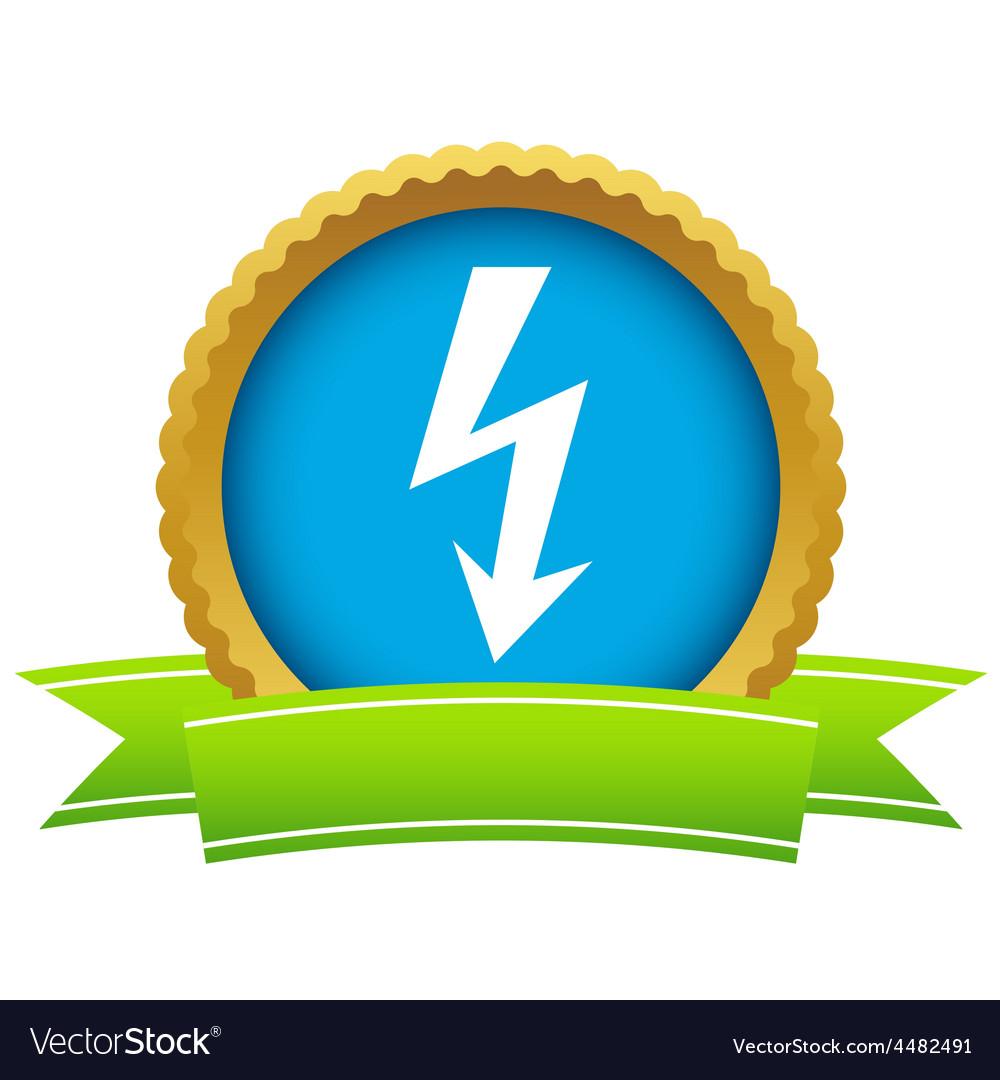 Gold lightning logo vector | Price: 1 Credit (USD $1)