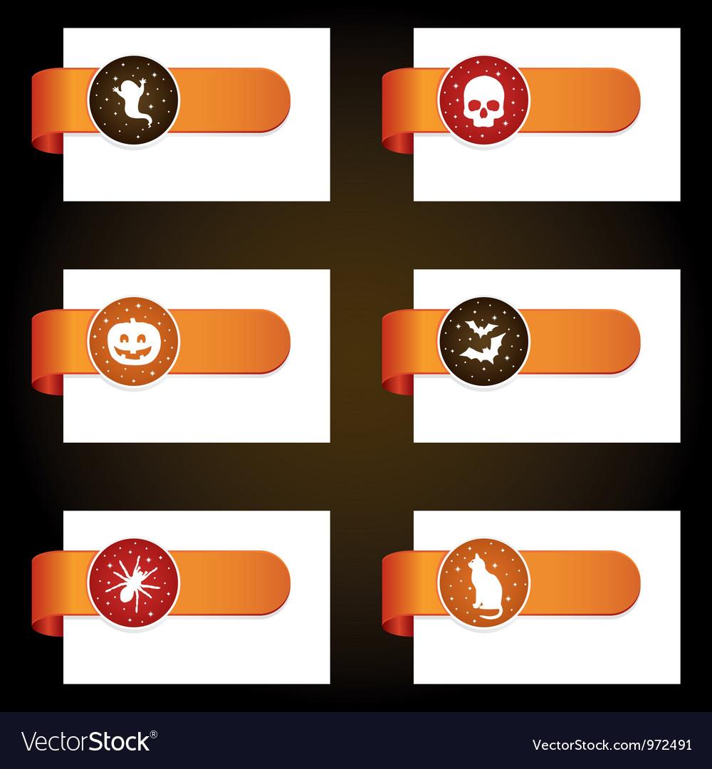 Halloween tabs vector | Price: 1 Credit (USD $1)
