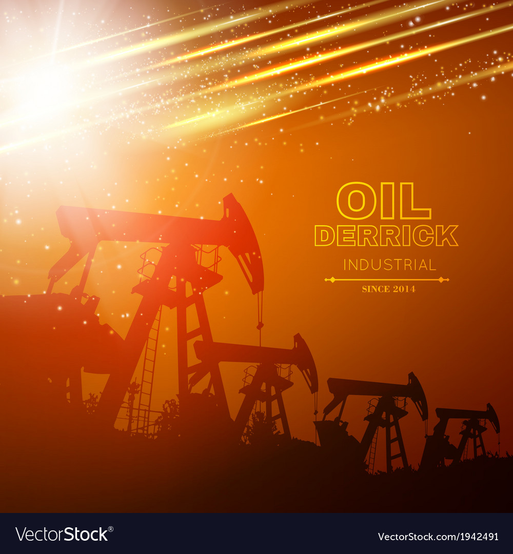 Pump jack oil crane vector | Price: 1 Credit (USD $1)