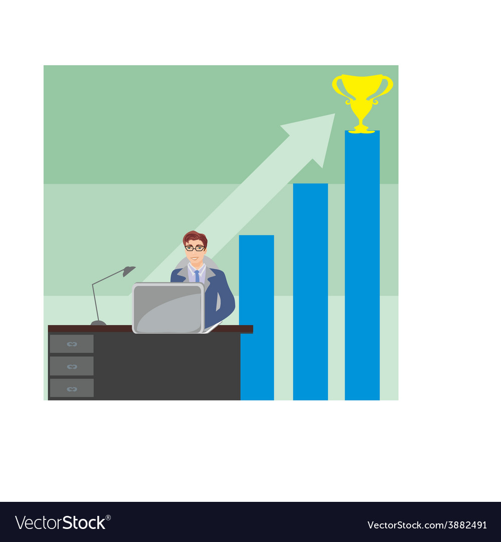 Pursuit of the objective - business abstract vector   Price: 1 Credit (USD $1)