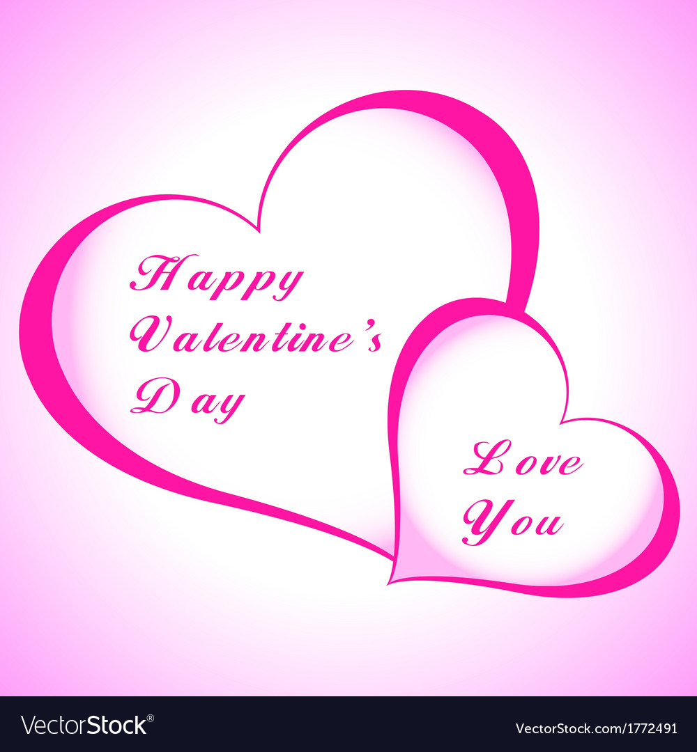 Valentines day paper heart card vector   Price: 1 Credit (USD $1)