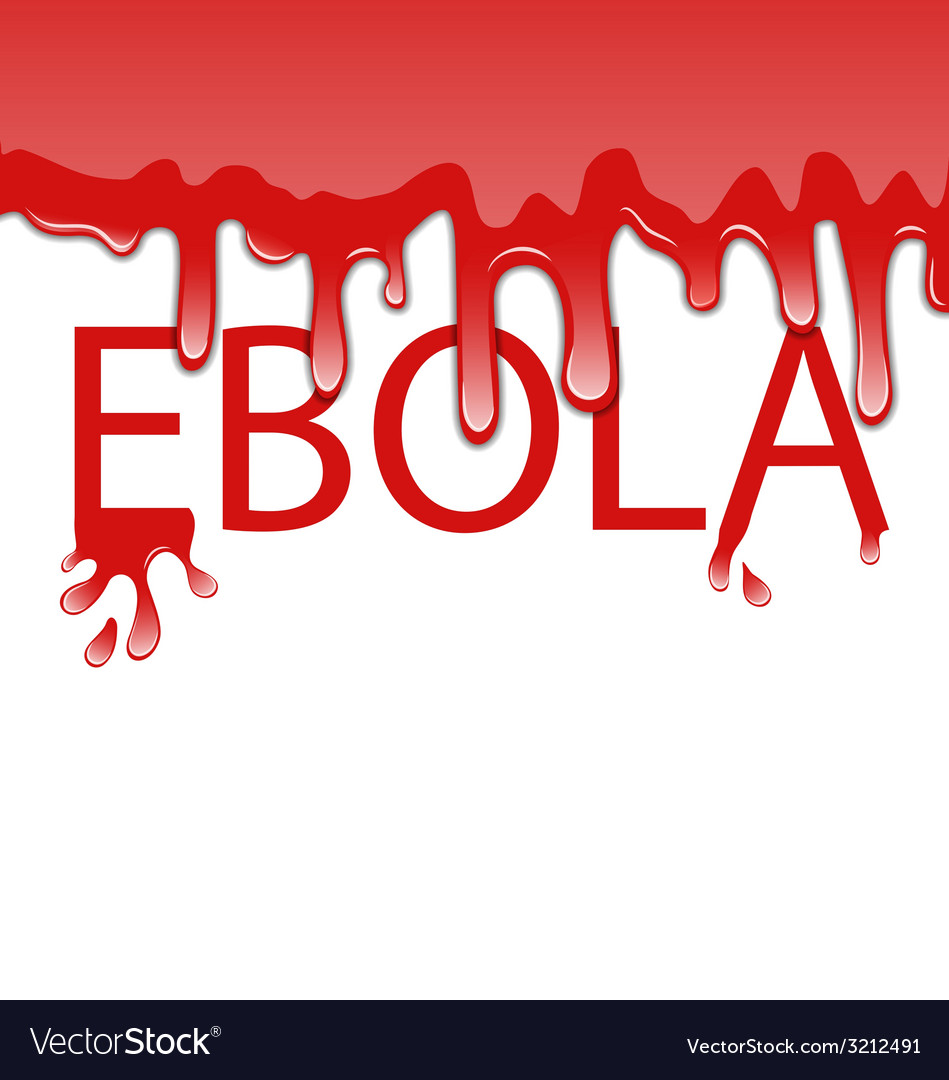 Warning epidemic ebola virus bloody font - vector | Price: 1 Credit (USD $1)