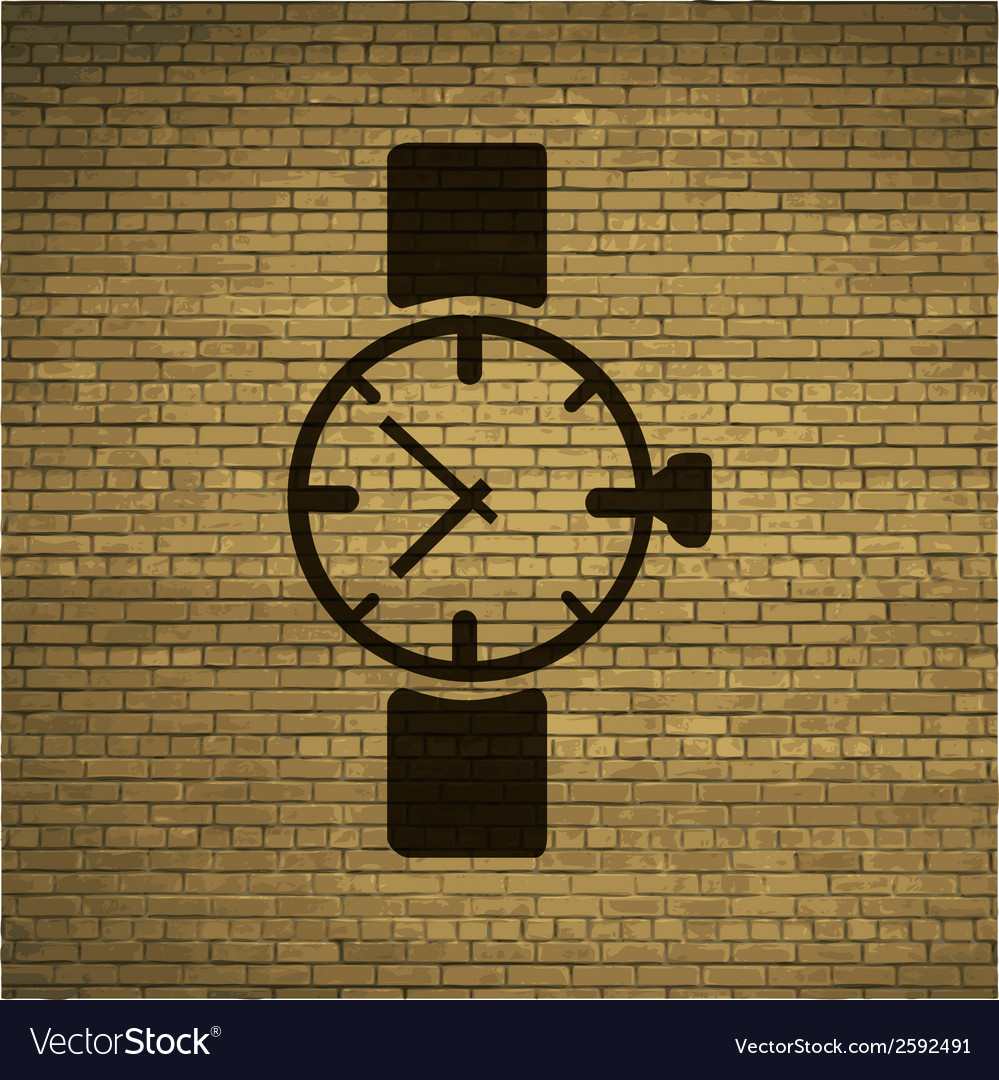 Watchclock flat modern web button and space for vector | Price: 1 Credit (USD $1)