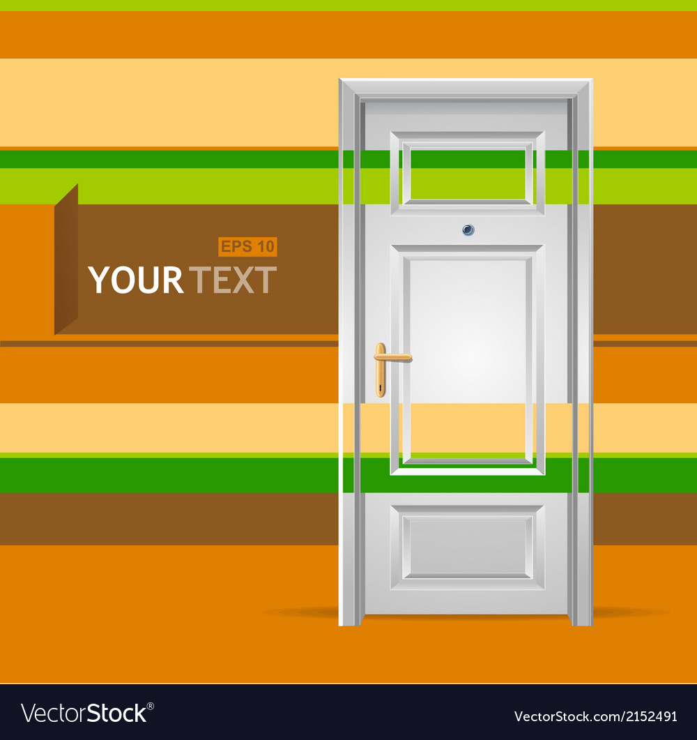 White door in the wall for text vector | Price: 1 Credit (USD $1)