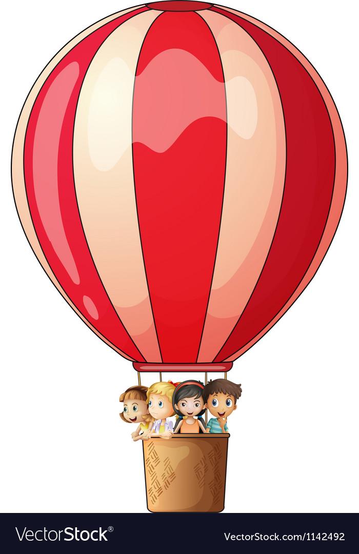 A stripe air balloon vector | Price: 1 Credit (USD $1)