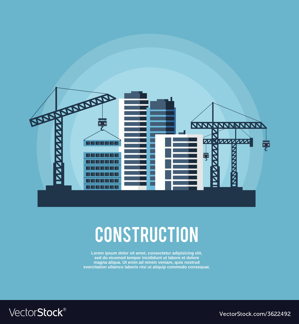Construction industry poster vector | Price: 1 Credit (USD $1)