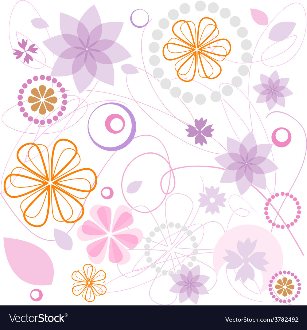 Floral pink ornament vector   Price: 1 Credit (USD $1)