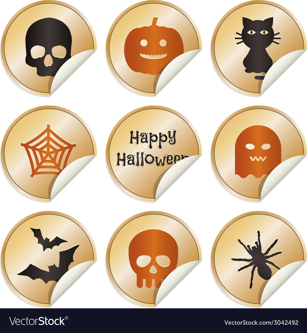 Halloween stickers vector | Price: 1 Credit (USD $1)