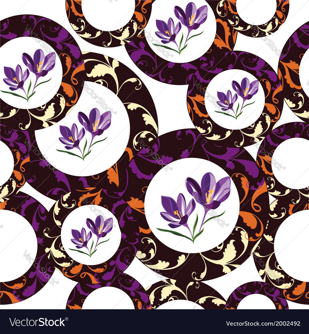 Seamless floral pattern hand-drawing vector | Price: 1 Credit (USD $1)