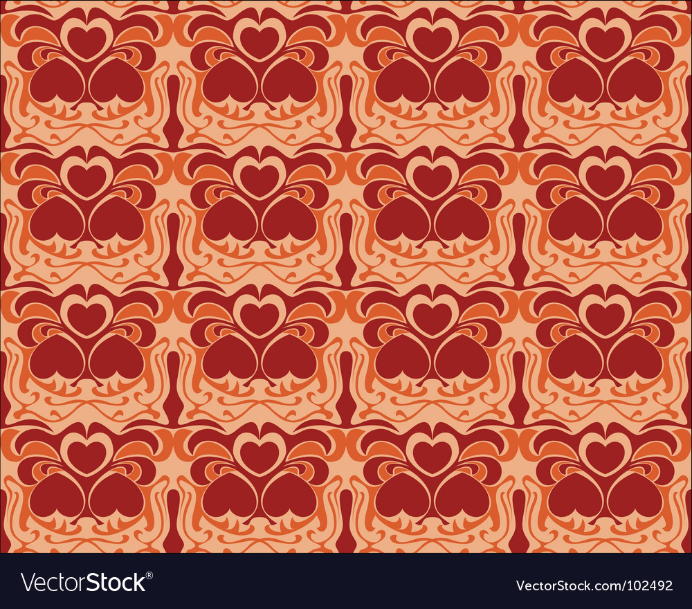 Seamless heart pattern background vector | Price: 1 Credit (USD $1)