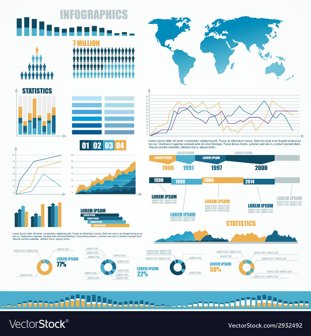 Set of infographic elements vector | Price: 1 Credit (USD $1)