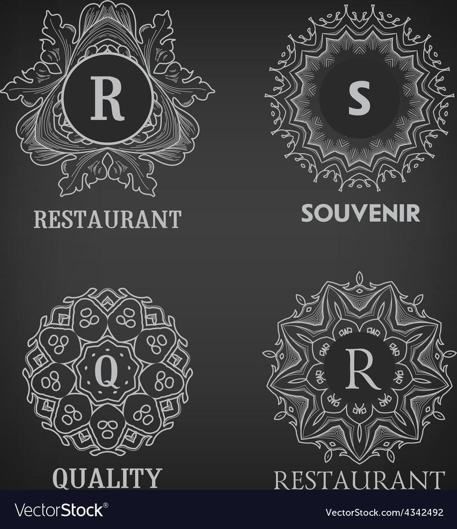 Set of luxury simple and elegant monogram designs vector | Price: 1 Credit (USD $1)