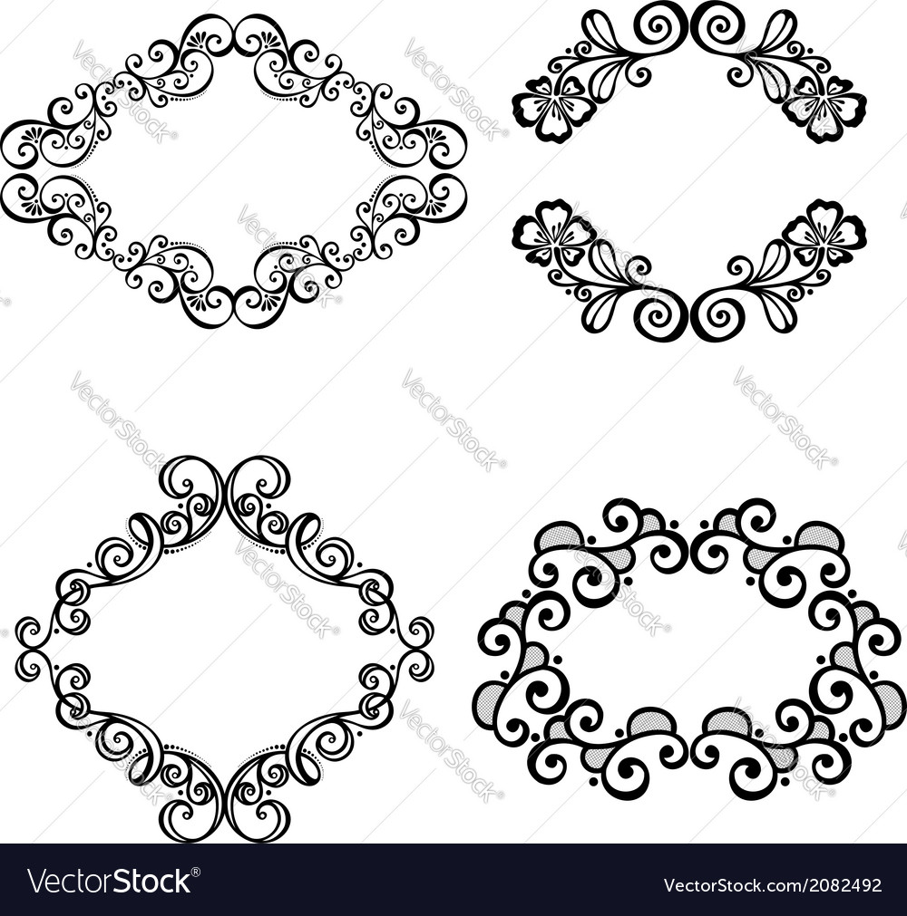Set of ornamental frames for text vector   Price: 1 Credit (USD $1)