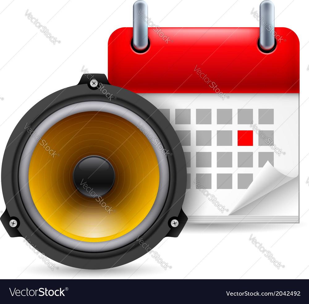 Sound speaker and calendar vector | Price: 1 Credit (USD $1)