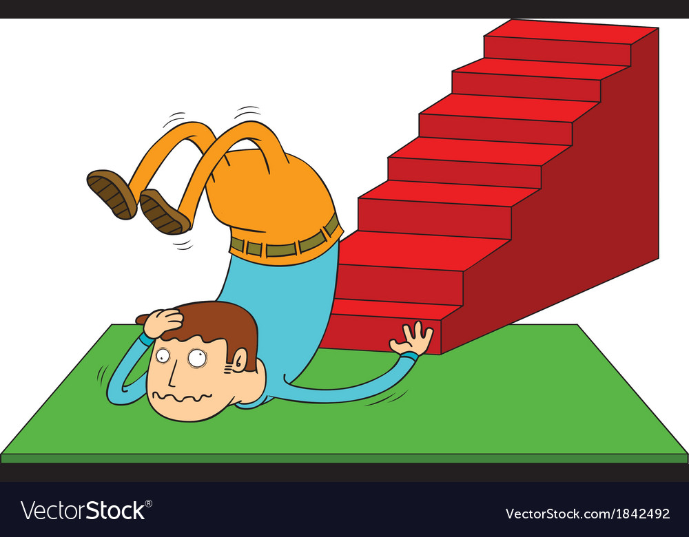 Stair accident vector | Price: 1 Credit (USD $1)