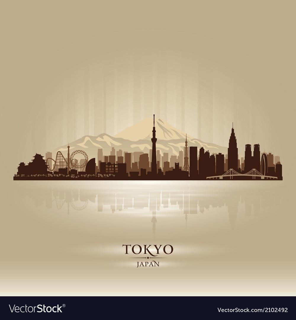 Tokyo japan city skyline silhouette vector | Price: 1 Credit (USD $1)