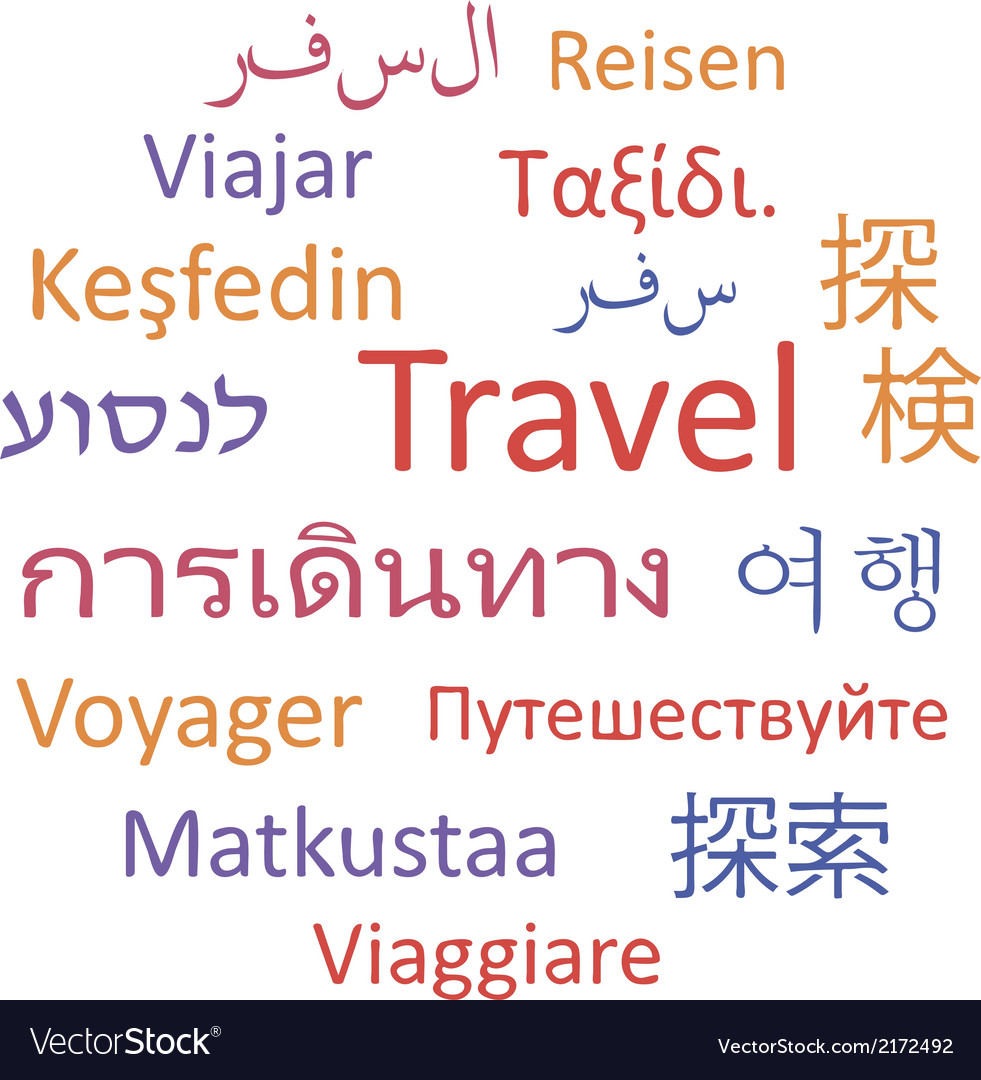 Travel languages vector | Price: 1 Credit (USD $1)