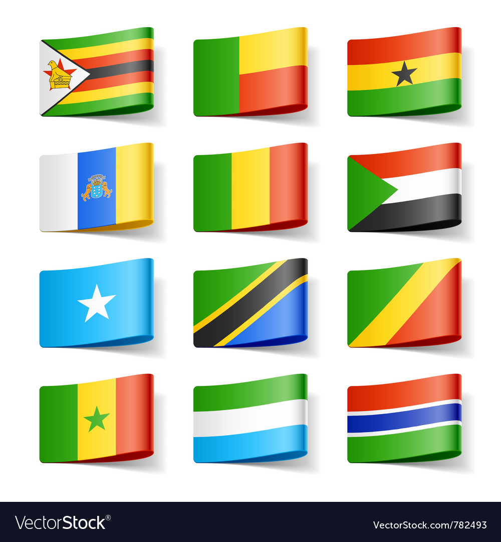 Africa flags vector | Price: 1 Credit (USD $1)