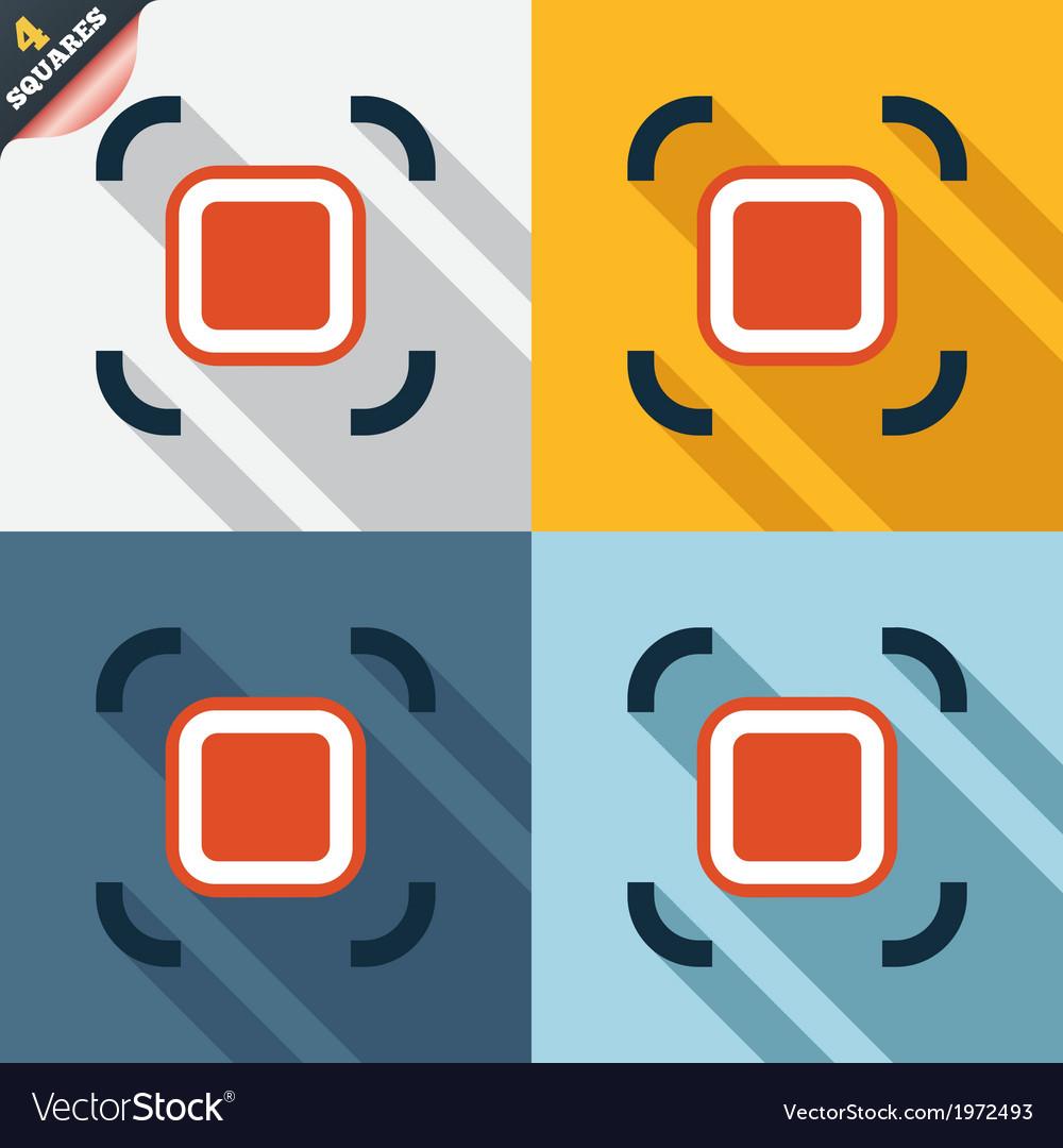 Autofocus zone sign icon photo camera settings vector | Price: 1 Credit (USD $1)