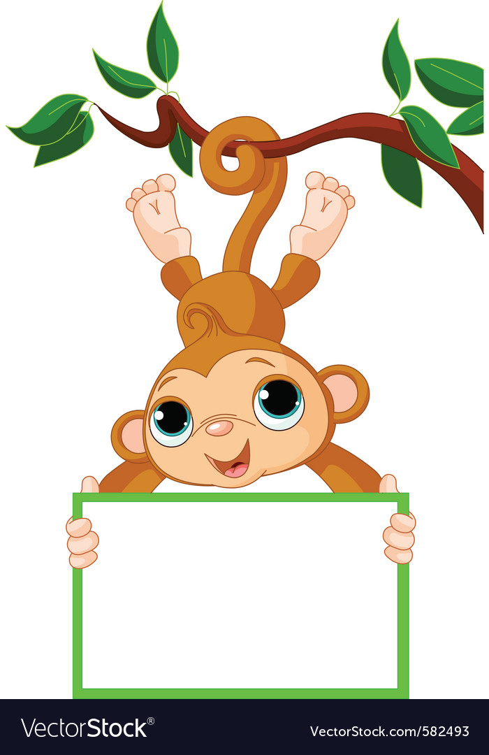 Baby monkey vector | Price: 1 Credit (USD $1)