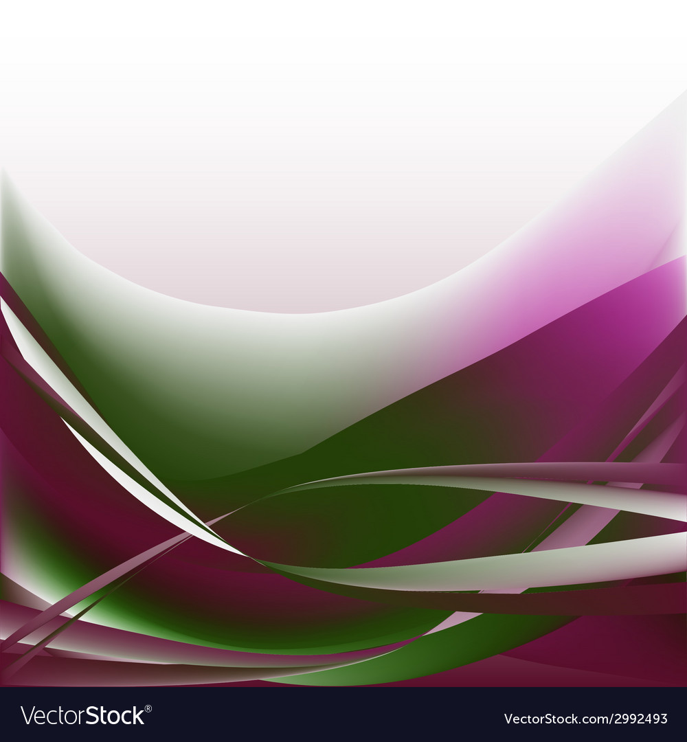 Colorful waves isolated abstract background vector | Price: 1 Credit (USD $1)