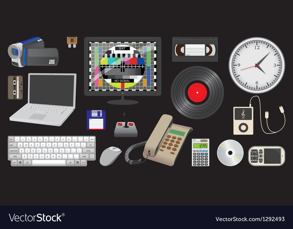 Electronic device and media vector | Price: 5 Credit (USD $5)