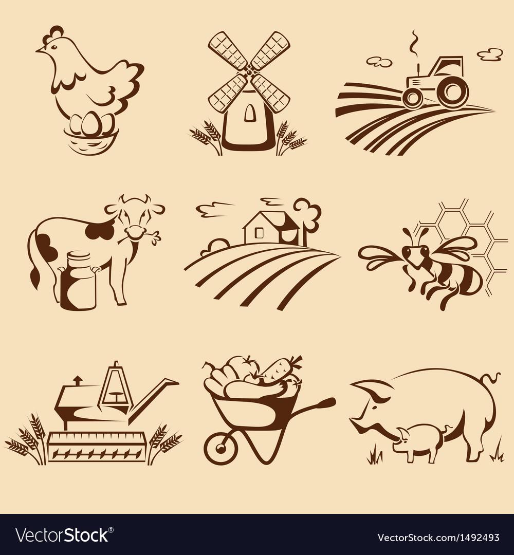 Farm emblems vector   Price: 3 Credit (USD $3)