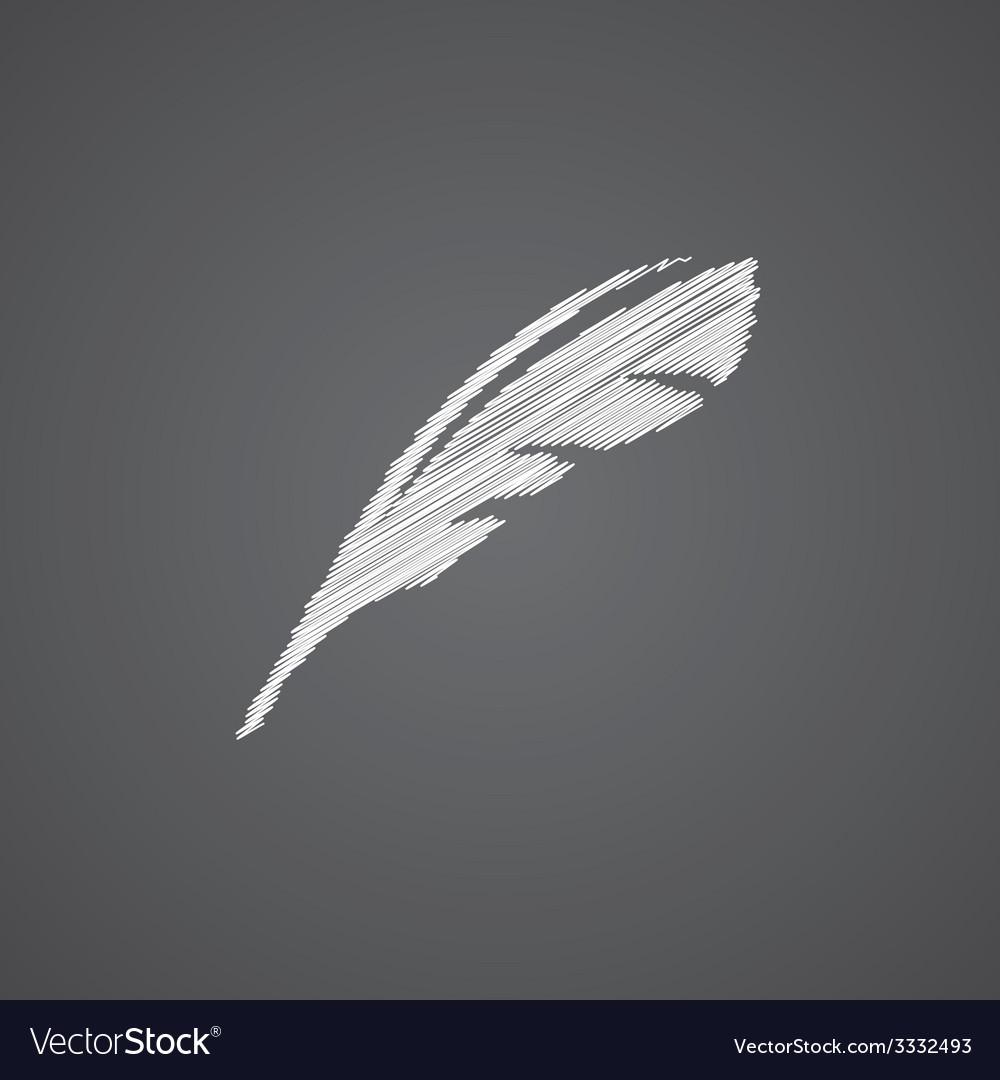 Feather sketch logo doodle icon vector   Price: 1 Credit (USD $1)