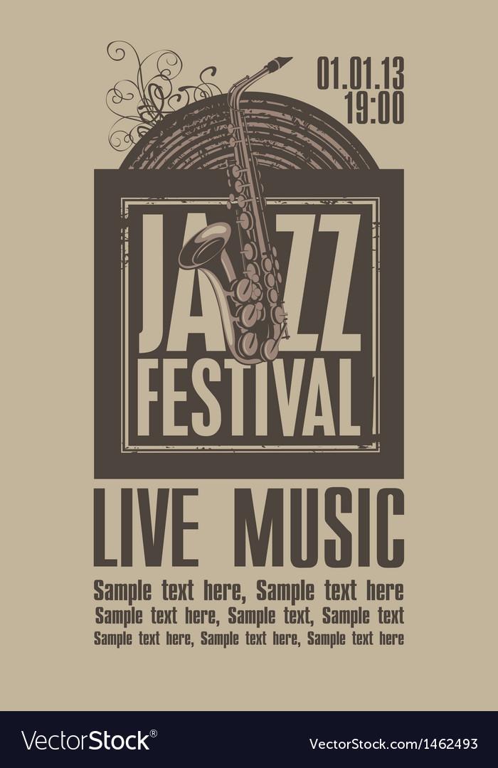 Jazz festival vector | Price: 1 Credit (USD $1)