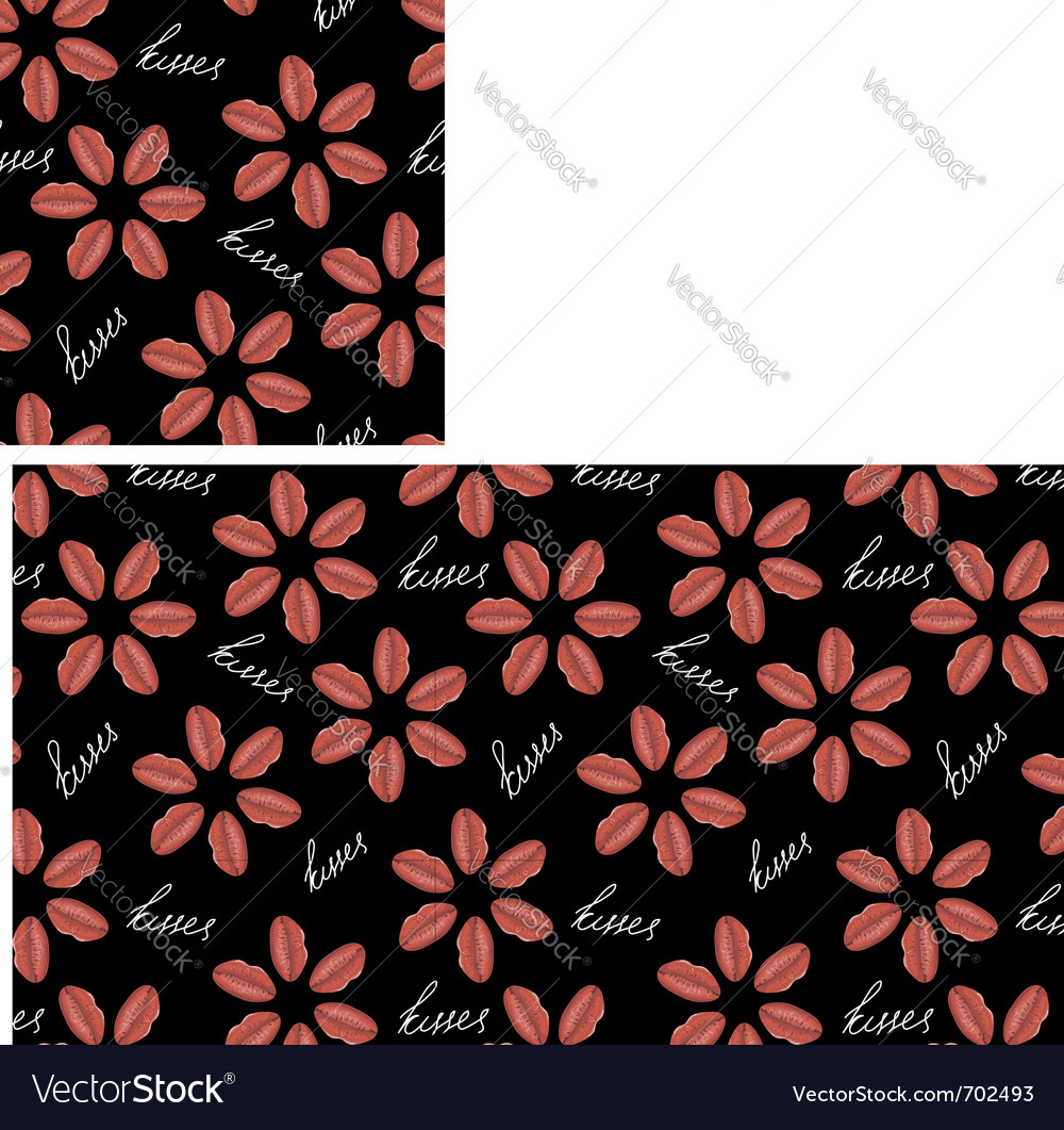 Love flower seamless vector | Price: 1 Credit (USD $1)