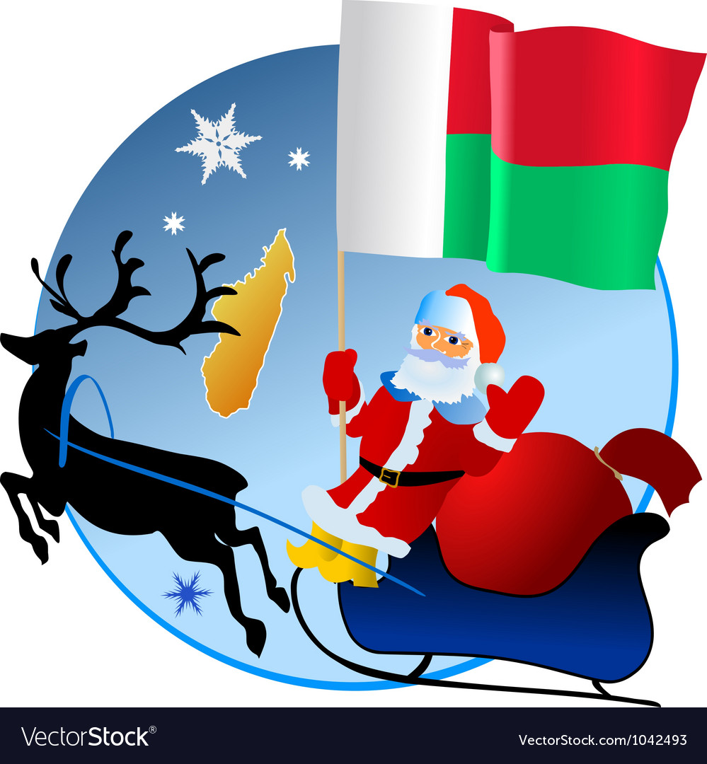 Merry christmas madagascar vector | Price: 1 Credit (USD $1)