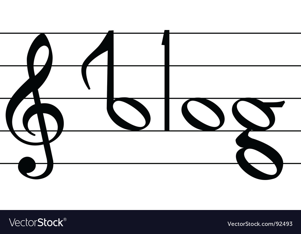 Music note symbol vector | Price: 1 Credit (USD $1)